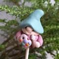 Tiny gnome plant stakes