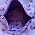 Purple Butterfly Duffel Bag