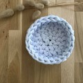 MEDIUM | crochet basket | essential oils | storage basket | WHITE