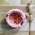 Crochet basket | MULTIPLE SIZES | PEACH & NAVY
