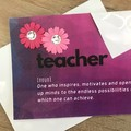 The meaning of teacher - Thank you card (pink)