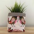 Small fabric planter | Storage basket | Pot cover | BIRDIES