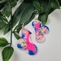 Cloud Confetti  -  Resin - Dangle or Stud earrings