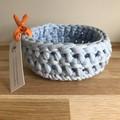 Crochet basket | MULTIPLE SIZES | PASTEL BLUE