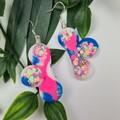 Cloud Confetti  -  Resin - Dangle or Stud earrings