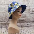 Blue/yellow swirl Bucket Hat