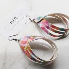 Rainbow Tartan Earrings