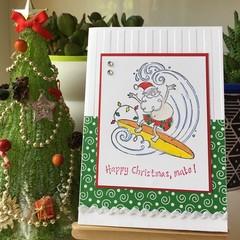 Aussie Christmas Handmade Card
