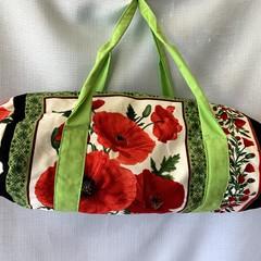 Red Poppy Duffel Bag