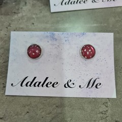 Christmas - Crimson Crush Jamberry stud earrings