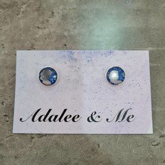 Snow White Jamberry stud earrings