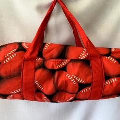 Red Football Duffel Bag
