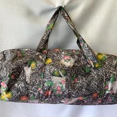 Grey Floral Duffel Bag