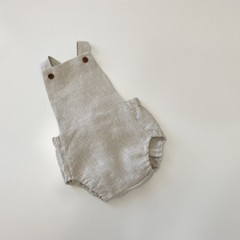 Stone linen Romper  you pick sizes