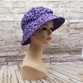 Purple leopard print Bucket Hat
