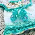 Enchanted Baby DRESS, HEADBAND and BOOTIES