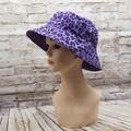 Purple leopard print Bucket Hat