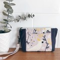 Wristlet Pouch- Cockatoos and Grey
