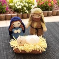 hand crocheted nativity set