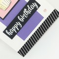 Birthday Card - Cupcake mauve and pink