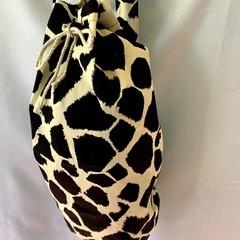 Giraffe Large Drawstring Duffel