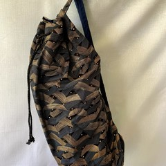Bronze and Silver Large Drawstring Duffel