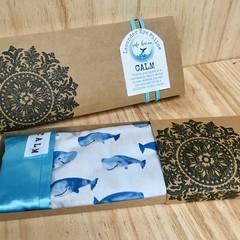 CALM Lavender Eye Pillow 'Whale print'