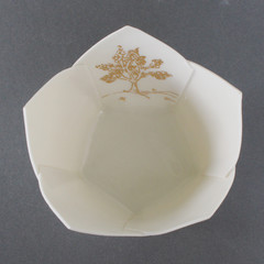 Gold Tree Origami Bowl