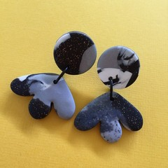Black & White Mix  - Polymer Clay Earrings