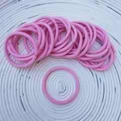 25 x Light Pink Thick Hair Ties/Elastics