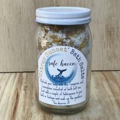 'Citrus Sunset' Essential oil Bath Salts Jar