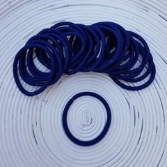 25 x Navy Blue Thick Hair Ties/Elastics