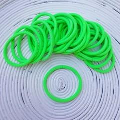 25 x Fluro Green Thick Hair Ties/Elastics