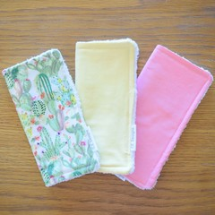 Cotton washer trio packs - Pinks