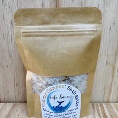 'Citrus Sunset' Essential oil Bath Salts In a bag