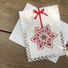 Bauble Snowflake Xmas card