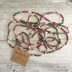 Handmade paper bead Christmas tree garland decoration