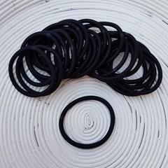 25 x Black Thick Hair Ties/Elastics