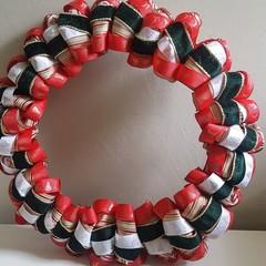 Handmade Ribbon Wreath - Under The Mistletoe