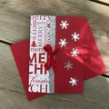 Merry Christmas Red Snowflake card
