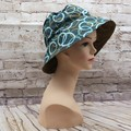 Blue/brown circies abstract Bucket Hat