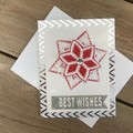 Best Wishes Snowflake Xmas card