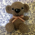 Cute Amigurumi Chocolate Brown Bear