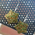 Star Drop Earrings - Christmas Colours