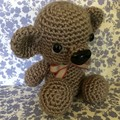 Cute Amigurumi Chocolate Brown Bear