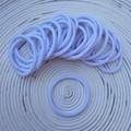 25 x White Thick Hair Ties/Elastics