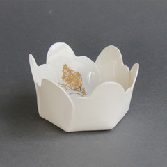 Gold Tree Origami Bowl no 2