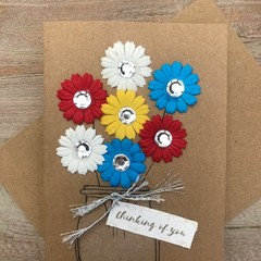 Thinking of you with flowers card