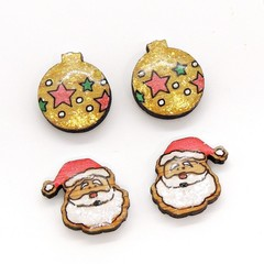 Christmas Collection - Christmas studs - Baubles and Santas