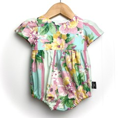 *NEW* SIZE 000 - Floral Stripe Tea Party Romper - FREE POST
